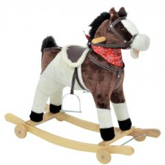 Balansoar calut Little Mom Rider cu roti pentru copii