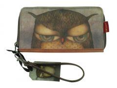 Eclectic Portofel cu fermoar Grumpy Owl