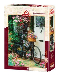 Puzzle Bicycle & Flowers