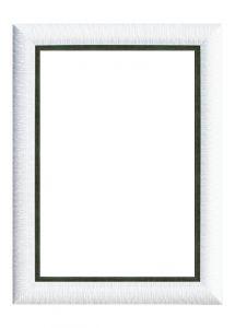 Rama puzzle 1000 piese - alb striat grosime 8.9 h 2.7- 68 x 48 cm