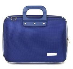 "Geanta lux business laptop 13"" Nylon Bombata-Albastru cobalt"