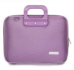 "Geanta lux business laptop 13"" Nylon Bombata-Lavanda"