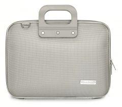 "Geanta lux business laptop 13"" Nylon Bombata-Gri"