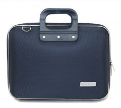 "Geanta lux business laptop 13"" Nylon Bombata-Bleumarin"
