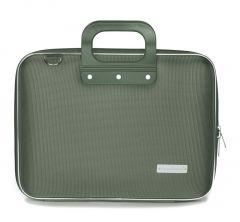 "Geanta lux business laptop 13"" Nylon Bombata-Verde"