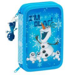 Penar echipat cu 34 piese OLAF bleu 20.5x13.5x4.5 cm