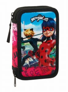 Penar dublu echipat Ladybug & Cat Noir,13x4x20 cm