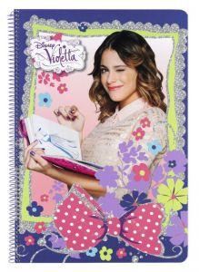 Caiet cu spira A4-80 de file colectia Violetta Flowers