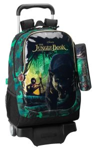 Ghiozdan troler mare si penar JUNGLE BOOK 33x43x15