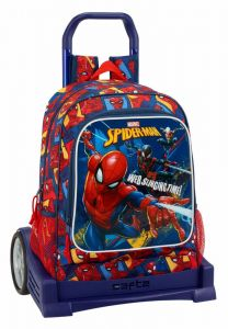 Troler Evolution baieti Spiderman,33x15x43 cm
