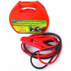 Cabluri pornire auto RoGroup cu LED integrat 600A