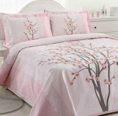 Lenjerie de pat bumbac,  vega roz, SWBSA Collection, Roz 240x260 cm