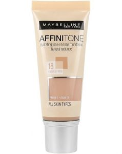 Fond de ten Affinitone Maybelline New York, 18 Natural Rose, 30ml