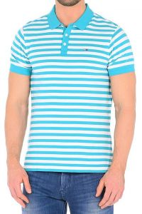 Tricou Tommy Hilfiger Denim THDM Basic Polo Stripe - XXL
