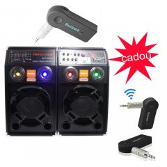 Set 2 Boxe active , USB-Bluetooth , 300 w , Microfon Cadou,  Adaptor Bluetooth Cadou