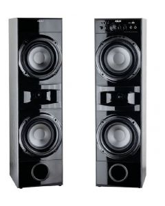 Boxe audio Akai 2.0 Home theater, Port USB, SD Card , 20 Hz si 20 kHz , Sensibilitate 88 dB , 4 Ohmi , Negru