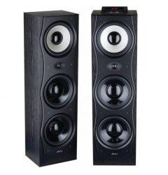 Sistem AKAI Boxe active , conectivitate Bluetooth , Display digital , buton functie father touch , Buton rotativ cu unghi 360˚ pentru controlul volumului , Negru/Alb