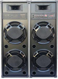 Boxe audio Temeisheng cu statie , Conectivitate Bluetooth / Port USB / Card SD  , Radio FM , Karaoke , Putere 380 W , Microfon cu Reglaj Volum  , 220 V , Negru