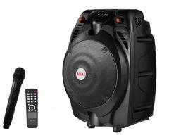 Boxa  audio  AKAI  conectare prin ,  USB , bluetooth , SD card  MMC  , telecomanda ,microfon , neagra