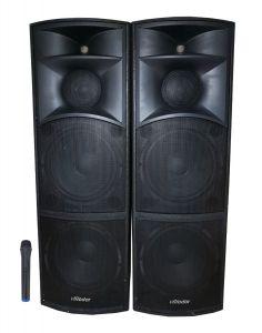Boxe  Profesionale Audio , Putere 920 W , Conectare prin Bluetooth , Port USB , SD Card , Microfon Inclus , AUX IN , Afisaj LCD , Negru
