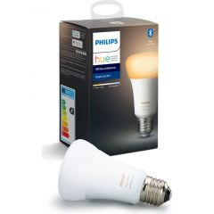 Bec inteligent LED Philips HUE, Bluetooth/Wireless, E27, 9W (60W), 806 lm, A+, lumina alba
