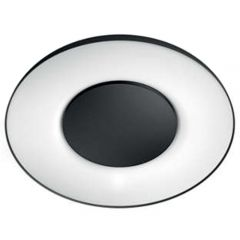 Aplica LED integrat Philips HUE Still, 32W (204W), 2400 lm, lumina alba reglabila calda-rece, Negru, Intrerupator cu variator inclus