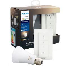 Pachet bec inteligent LED Philips HUE, Bluetooth/Wireless, E27, 8.5W (60W), 806lm, A+, lumina alba + Intrerupator