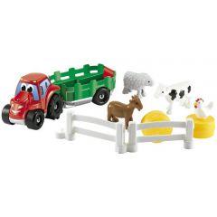Set Ecoiffier Tractoras cu Remorca si Animale