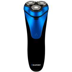 Aparat de ras Blaupunkt MSR501, Multi-D shave, 3 capete, acumulator, lame duble,maner cauciucat, IPX7, albastru/negru