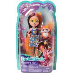 Set de joaca Enchatimals, Papusa Mayla Mouse si prietenul ei Fondue, Mattel