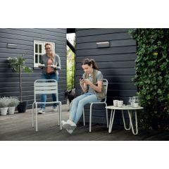 Aplica LED integrat pentru exterior Philips myGarden Bustan, 2x4.5W, 4000K, IP44, Gri inchis