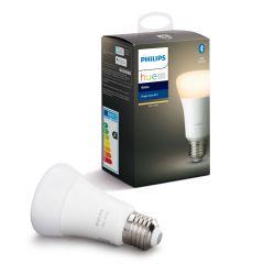Bec inteligent LED Philips HUE, Bluetooth/Wireless/Wireless, E27, 9W (60W), 806 lm, A+, lumina alba reglabila