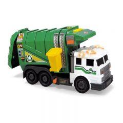Masina de gunoi verde Dickie Toys cu sunet si lumini, 39 cm