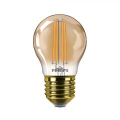 Bec LED vintage dimabil Philips Classic, E27, 5W (32W), 150 lm, 2200K, flacara, Gold