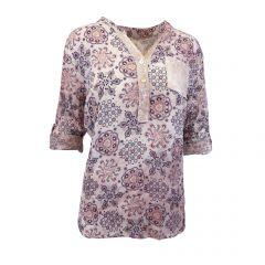 Bluza Univers Fashion - roz cu imprimeu etnic multicolor - L-XL