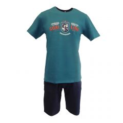 Pijama barbat, Univers Fashion - bluza verde cu imprimeu 'Man of the match