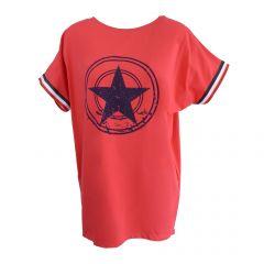 Bluza Univers Fashion - rosu cu stea pe piept si banda tricolor la maneca - L-XL