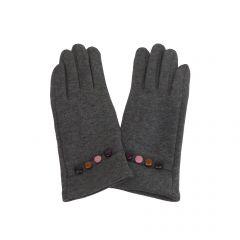 Manusi dama, Univers Fashion, din material textil, cu functie pentru Touchscreen Telefon, gri inchis - S-M