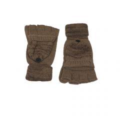 Manusi dama, Univers Fashion, din tricot, cu decupaj la degete, maro - S-M