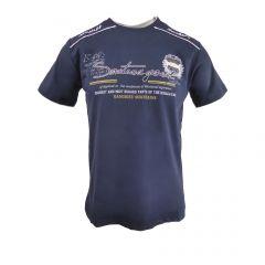 """Tricou Mastiff - albastru inchis cu logo """"Mastiff Fashion"""" pe umeri - M"""