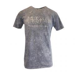"""Tricou Mastiff - gri cu logo """"Authentic Original Mastiff Jeans"""" - XL"""