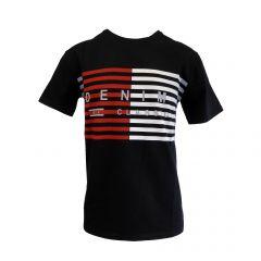 """Tricou Mastiff - negru cu logo """"DENIM CLASSICS"""" - M"""