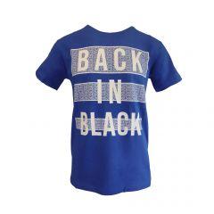 """Tricou Mastiff - albastru deschis cu logo """"BACK IN BLACK"""" - XL"""