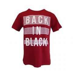 "Tricou Mastiff - rosu cu logo ""BACK IN BLACK"" - L"