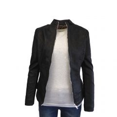 Jacheta dama Itenly Fashion - culoare neagra - material piele ecologica - XS