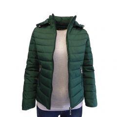 Geaca matlasata cu gluga dama, Univers Fashion - verde – XS