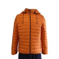 Geaca usoara, Univers Fashion, aspect matlasat cu vatelina si gluga ajustabila, oranj - S