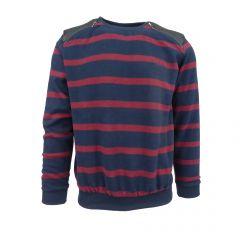 Bluza barbat EA47 - albastru  si rosu - M