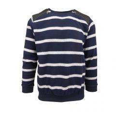 Bluza barbat EA47 - albastru  si gri - L