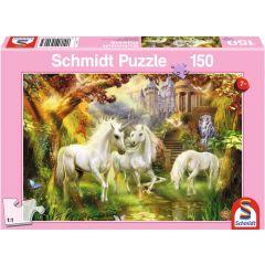 Puzzle Schmidt pentru copii 150 piese: Pădurea Unicorn